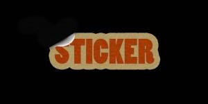 sticker z logotypem